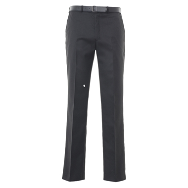 Senior Boys Flat Front School Trousers - Black