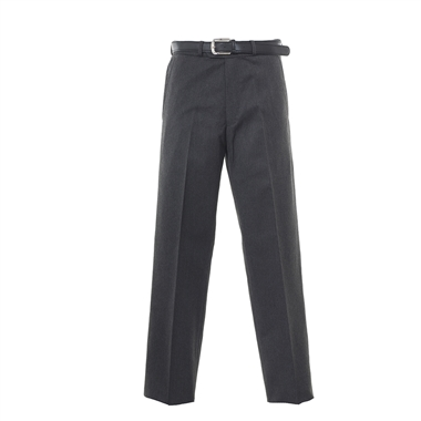 Senior Boys Flat Front School Trousers - Grey