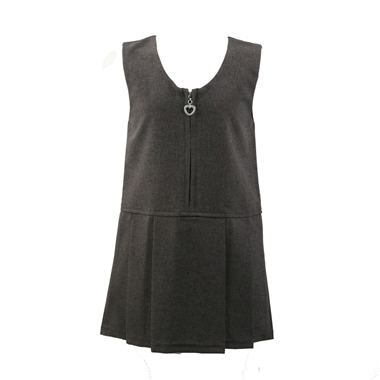Lynton Pinafore Dress - Grey Size Guide