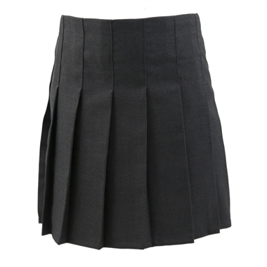 Junior Girls Stitch Down Knife Pleat Skirt - Grey
