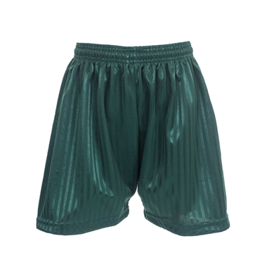 Bottle Green PE Shorts - Shadow Stripe