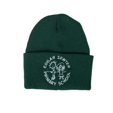 Edgar Sewter Winter Hat with Logo in Bottle Green