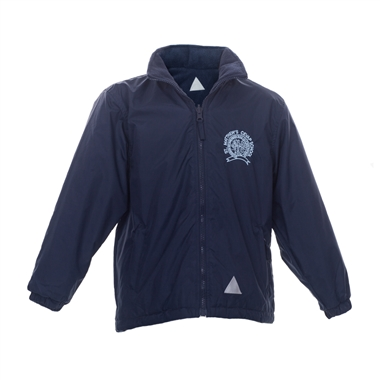 St Matthews Reversible Coat - Navy with School Crest
