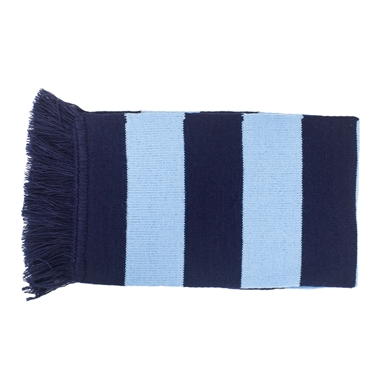 St Matthews Scarf - Navy and Sky Stripe