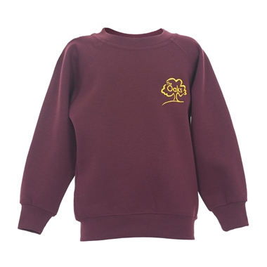The Oaks Primary School Sweatshirt in Burgundy