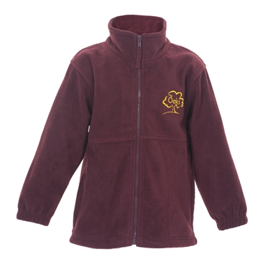 The Oaks Primary School Polar Fleece in Burgundy