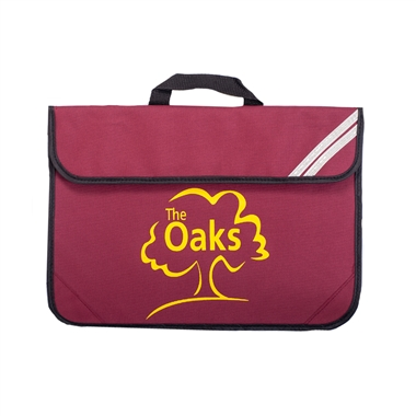 The Oaks Primary School Book Bag in Burgundy