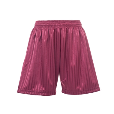 The Oaks Primary School Games Shorts in Burgundy