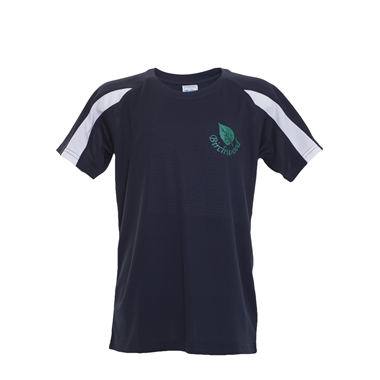 Birchwood PE T-Shirt in Navy; Green Logo
