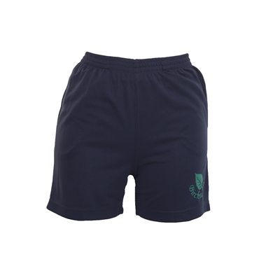 Birchwood PE Shorts in Navy; Green logo