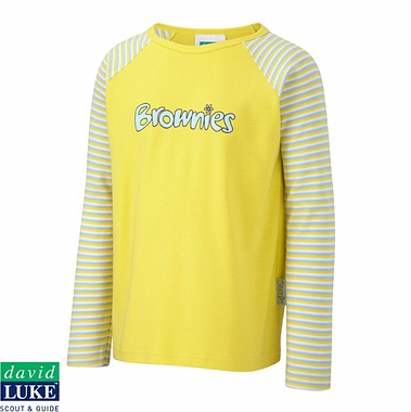 Brownies Long Sleeved T-Shirt - Yellow With Logo