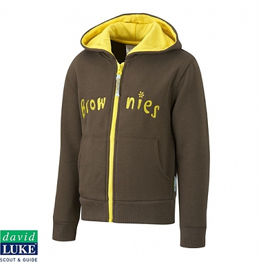 Brownies Hooded Zipper - Brown with Logo