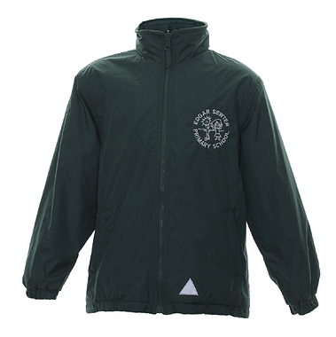 Edger Sewter Reversible Coat - Green with School Crest Size Guide
