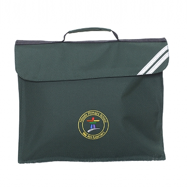 Hillside Expandable Bag - Green with School Crest