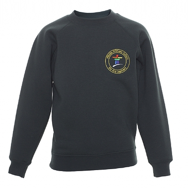 Hillside Sweatshirt - Green with School Crest Size Guide