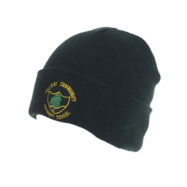 Hillside Ski Hat - Green with School Crest