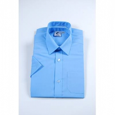 Boys Short Sleeved Shirt - Blue - Twin Pack