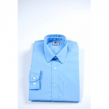 Boys Long Sleeved Shirt - Blue - Twin Pack