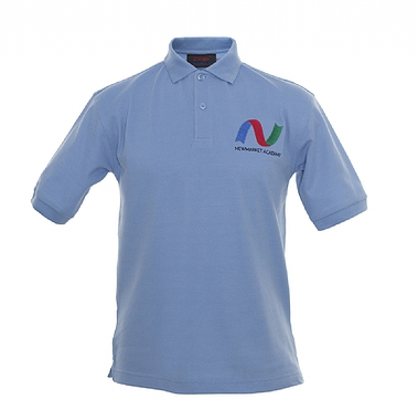 Newmarket PE Polo - Sky with School Logo