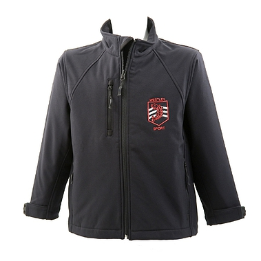 Westley Sports Jacket - Soft Shell - Black with School Crest