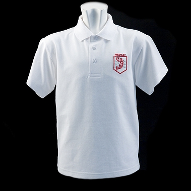 Westley Polo - White with School Crest