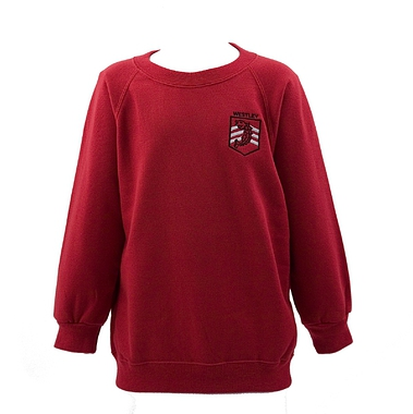 Westley Sweatshirt - Red with School Crest