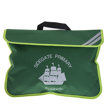 Sidegate Bookbag - Green with High Viz Strips and Logo