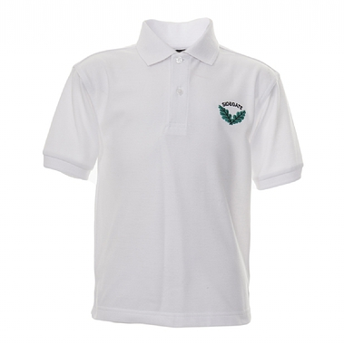 Sidegate Polo - White with School Crest