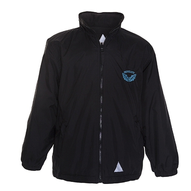 Sidegate Reverisble Coat - Black with School Crest
