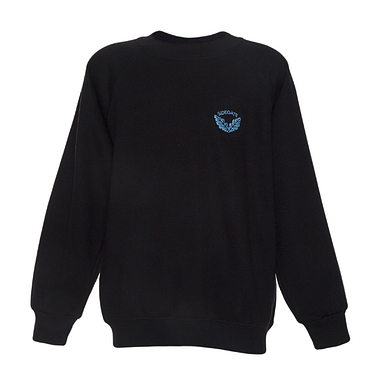 Sidegate Sweatshirt - Black with School Crest