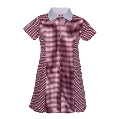 Red Gingham Zip Front Summer Dress