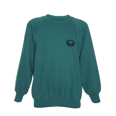 Sidegate Sweatshirt - Jade with School Crest