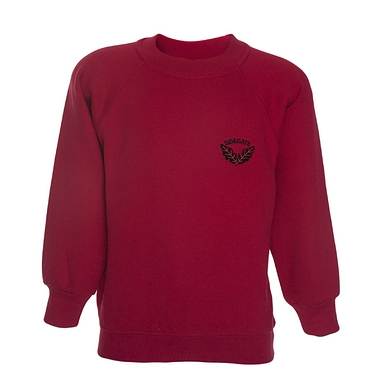 Sidegate Sweatshirt - Red with School Crest