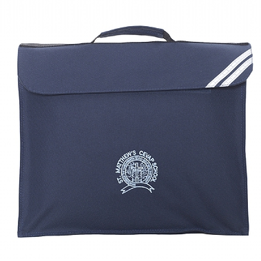 St Matthews Expandable Bag - Navy With School Crest