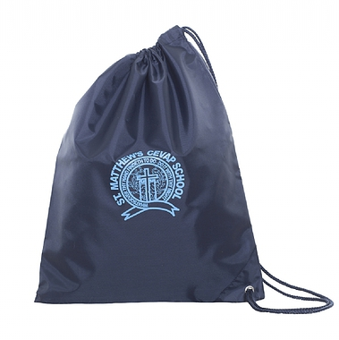 St Matthews Side Drawstring Bag